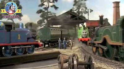 The Fat Controller congratulated Oliver the train Thomas and friends Emily the tank engine well done