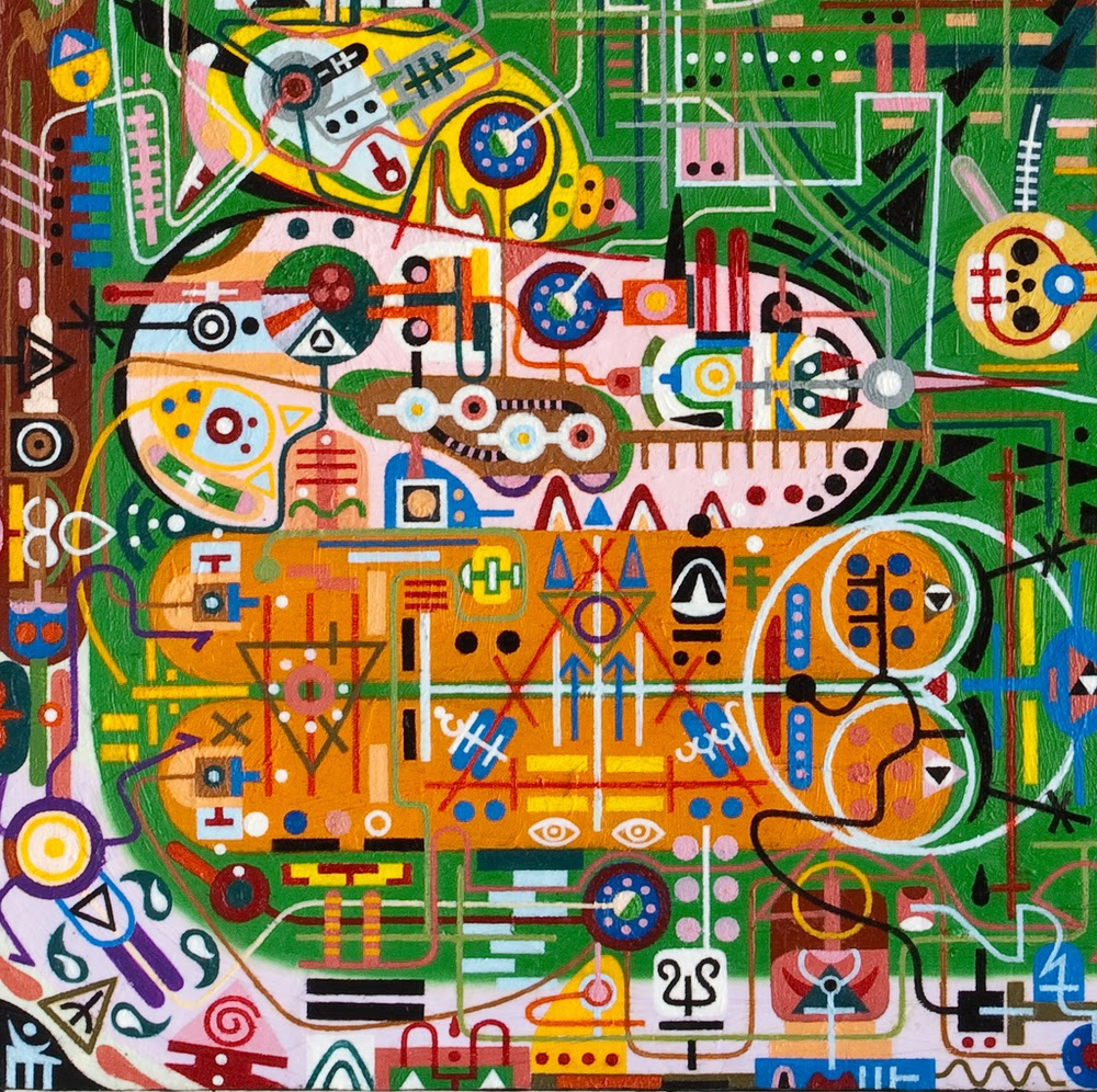 shawn_thorton_cartographers_pineal_eye_Mother Brain Decoding the Psychonautical Device_art_painting