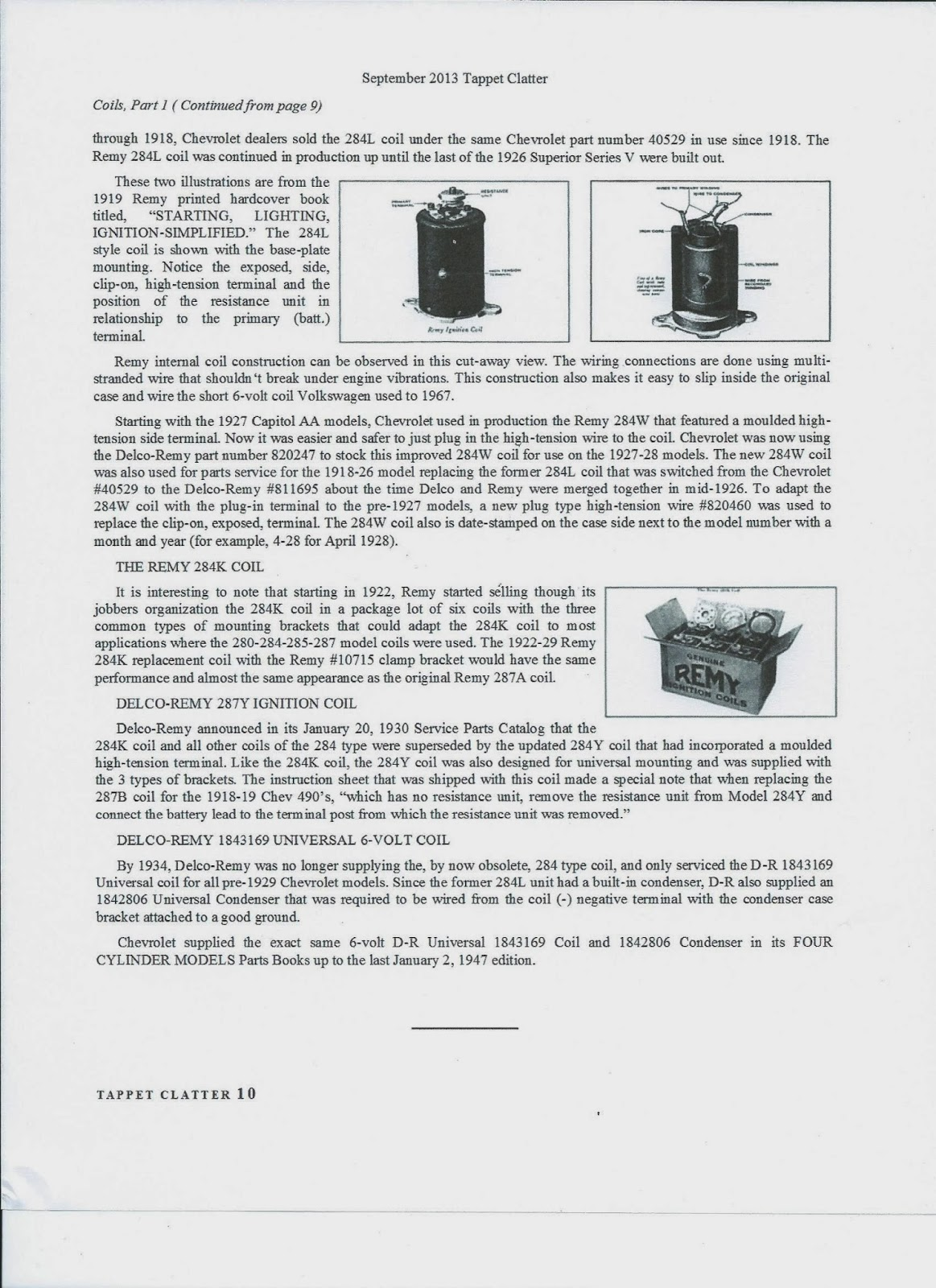 Chev 235 Guy Evolution Of The Chevrolet Coil Wiring Simplified Book These Articles Are Copied With Permission From Vcca Publication