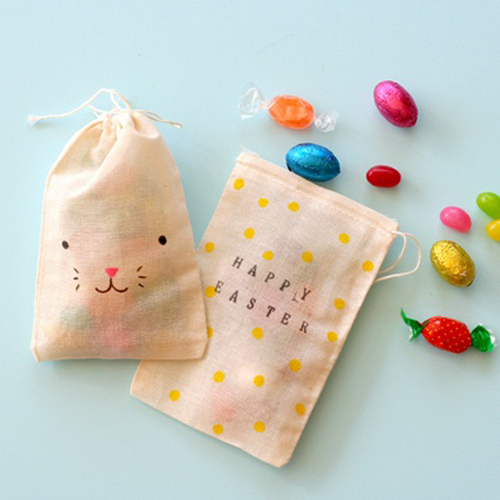 Blankgoods+AU+Easter+Tablescapes+DIY+Craft+Inspiration+stamped+muslin+bags Easter Crafts Inspiration