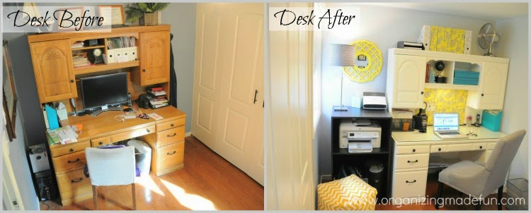 Before, the after before and more updating of my home office :: OrganizingMadeFun.com