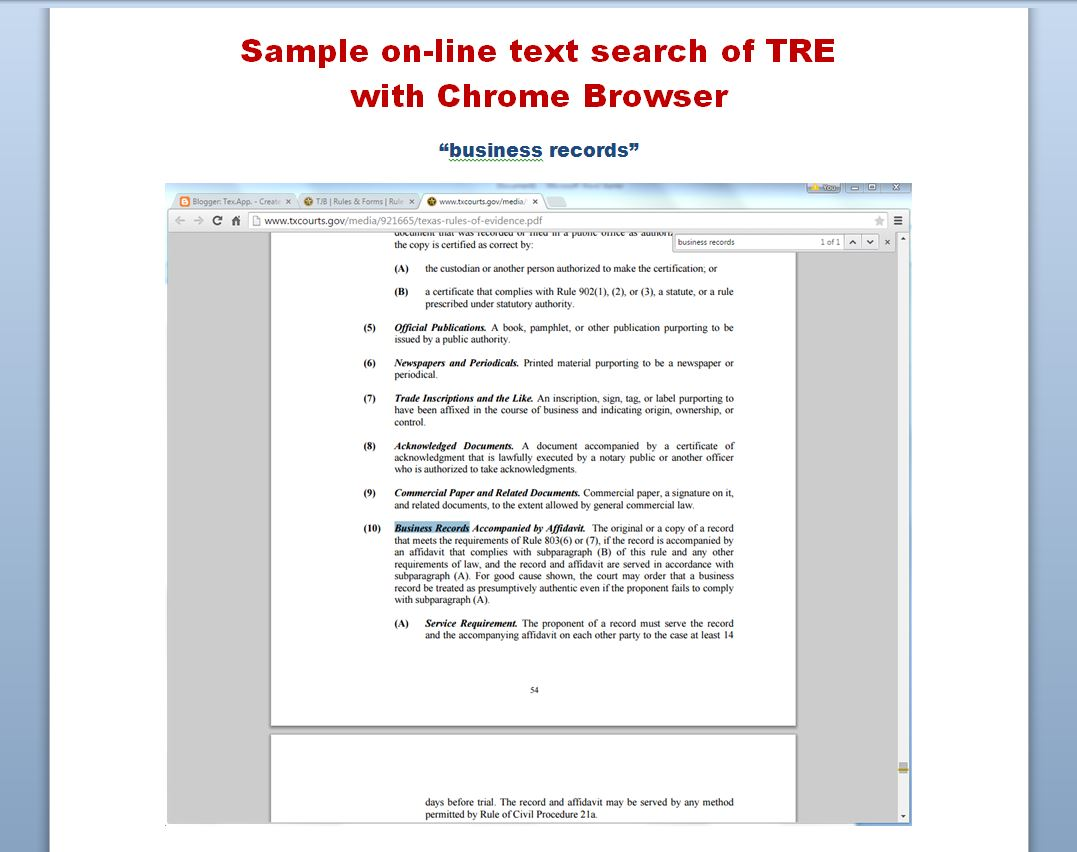 Tex the new texas rules of evidence tre where to find them texas rules of evidence ccuart Image collections