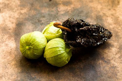 tomatillos and ancho chile