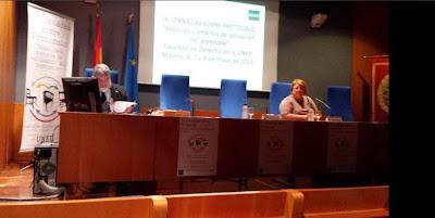Fernando Ramos y Dolores del Mar Sánchez. IX Jornadas Protocolo UNED 2015