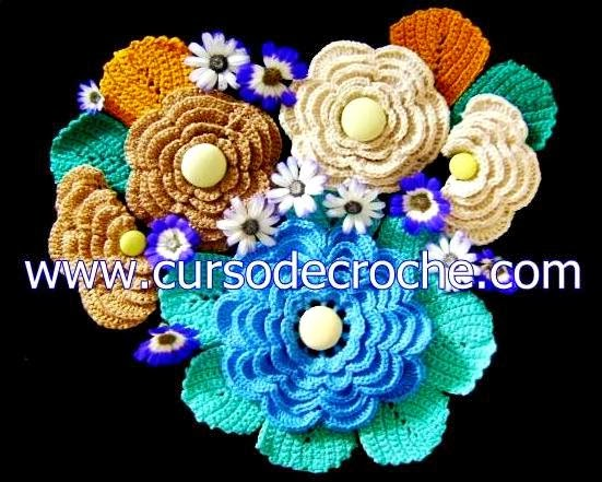 dvd 5 volumes flores em croche com Edinir-Croche na loja curso de croche com frete gratis
