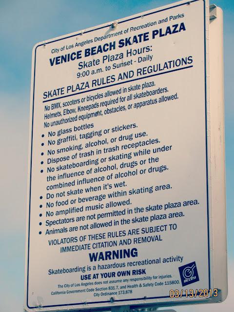 Venice Beach-- Skate Park Rules