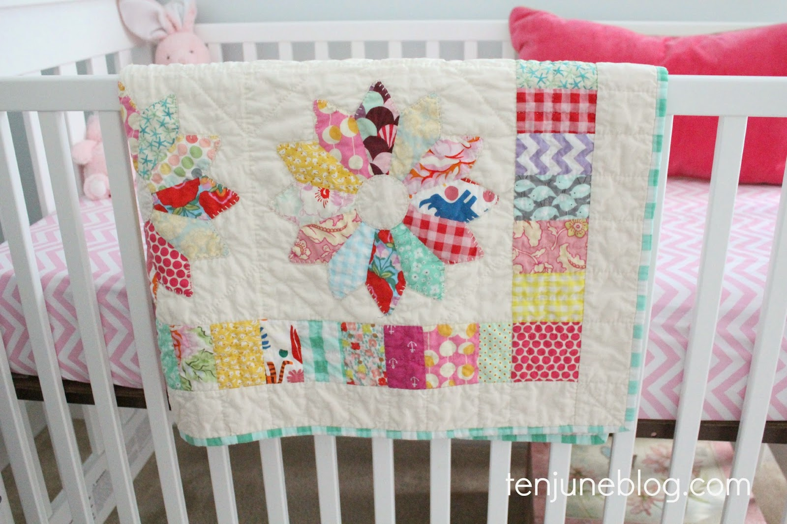 Little Lady June S Custom Vintage Inspired Nursery Quilt