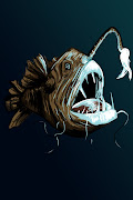 I did this digital painting of an Angler fish today in class.