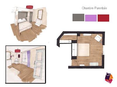 Adc l 39 atelier d 39 c t am nagement int rieur design d 39 espace et d coration d coration d 39 une - Chambre parentale 20m2 ...