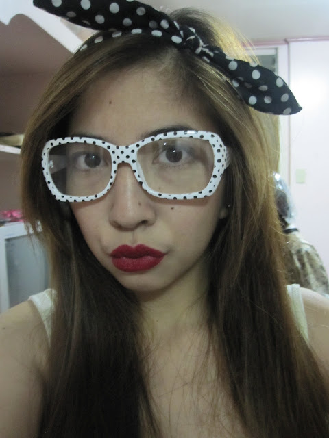 polka dot glasses