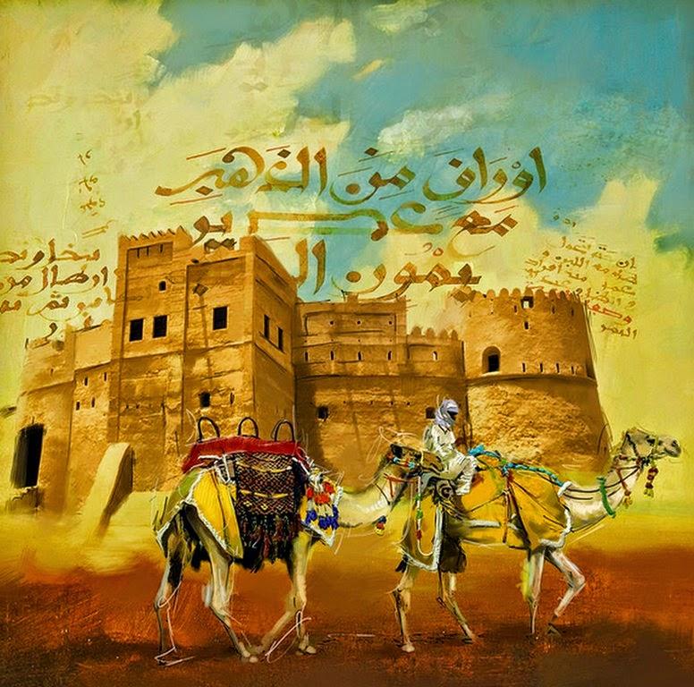 desierto-de-medio-oriente-pintura-oleo