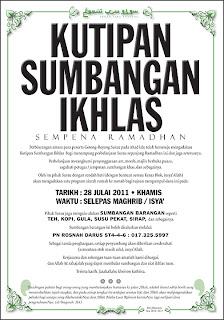 Kutipan Sumbangan Ikhlas Sempena Ramadhan 1432H