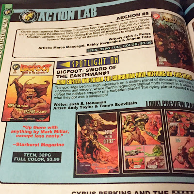 bigfoot sword of the earthman bigfoot comic book diamond previews bigfoot barbarian graphic novel