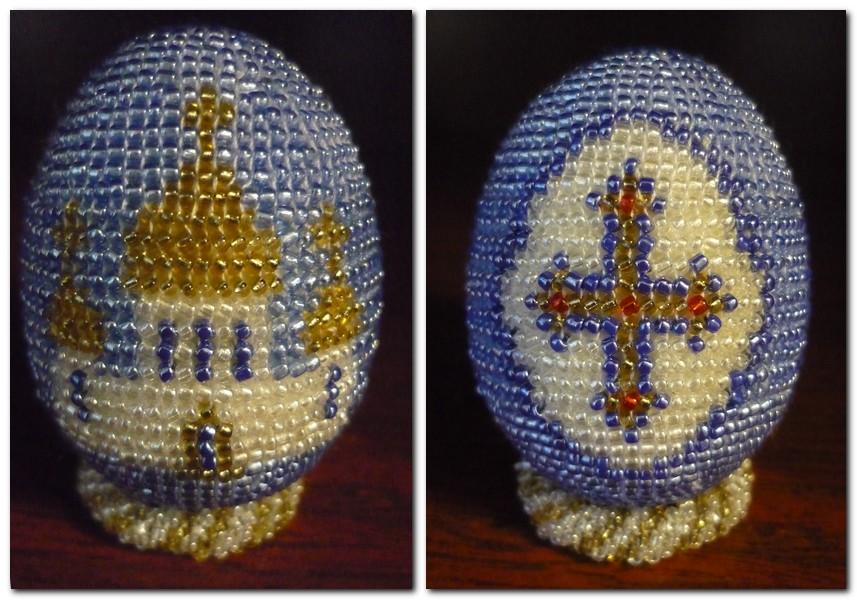 ... b яйца /b оплетенные бисером два b яйца /b с.