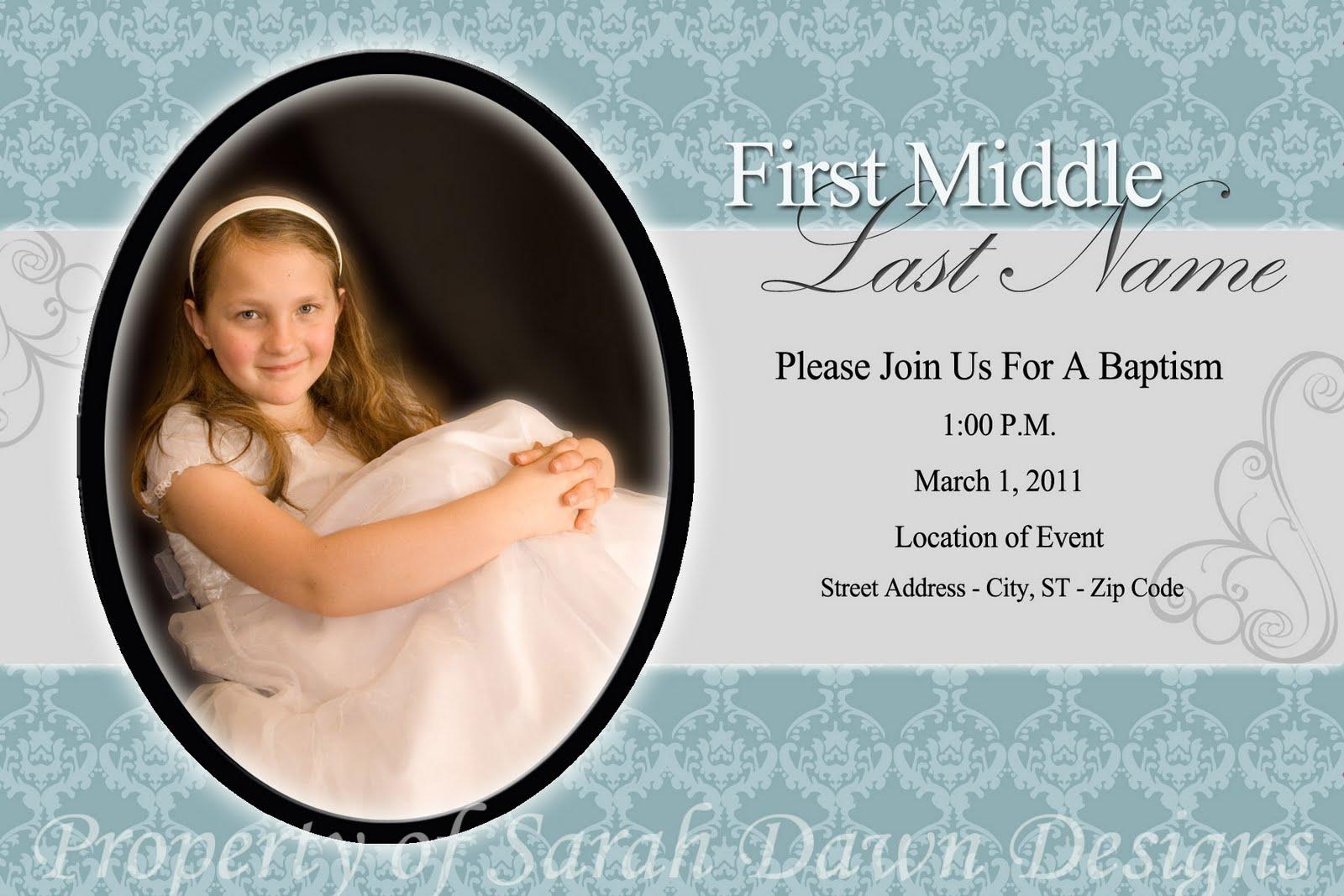 Photo Baptism Invitations (Sneak Peek)
