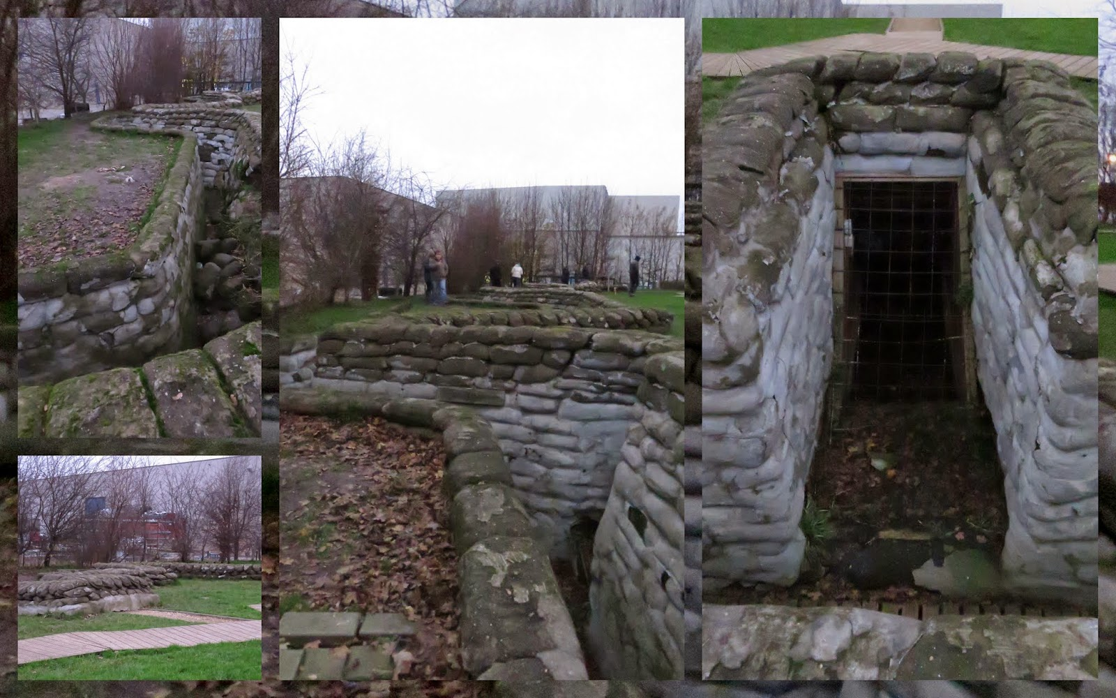 Preserved World War I era trench
