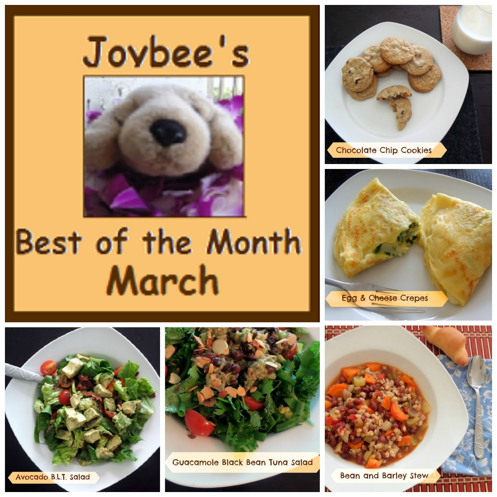 Best of the Month March 2014:  A recap of my most popular recipes in March 2014