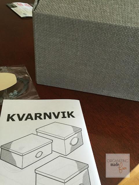 Ikea Kvarnvik cardboard box :: OrganizingMadeFun.com