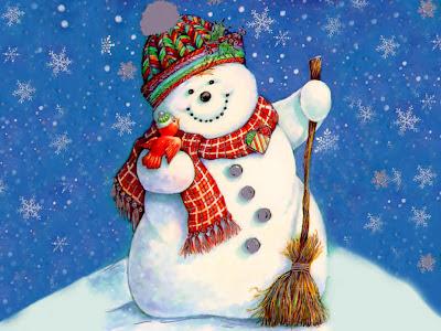Snjegović, zima, Božić slike pozadine čestitke