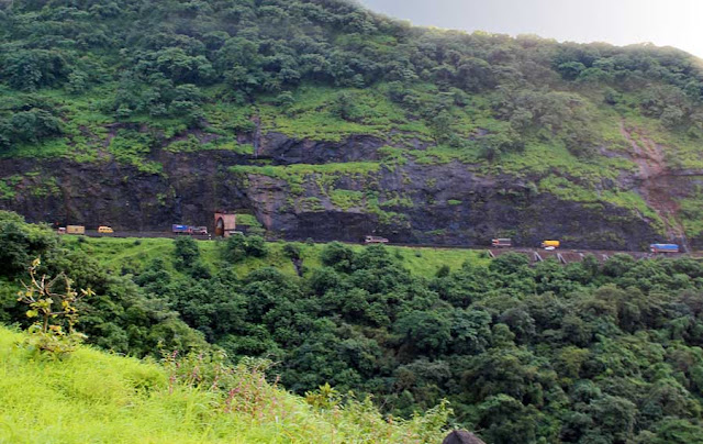 The Mumbai Pune Expressway in the Western Ghats