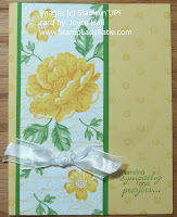 Card made with Stampin'UP! Stippled Blossoms and Distressed Dots. by StampLadyKatie