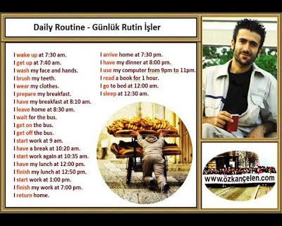 Daily Routine - Gunluk Rutin isler