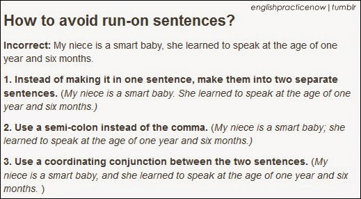 how to avoid a run on sentence learn english run on sentence grammar. Black Bedroom Furniture Sets. Home Design Ideas