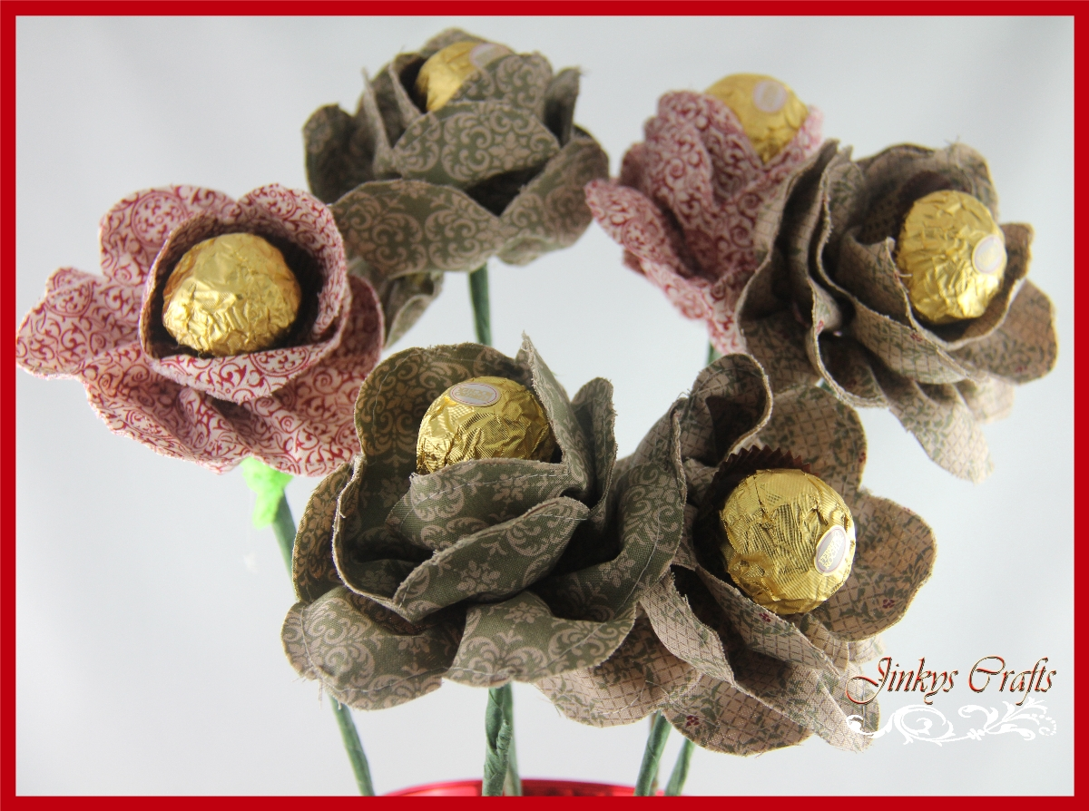Jinky s Crafts & Designs Fabric Flower Chocolate Bouquet Day 3