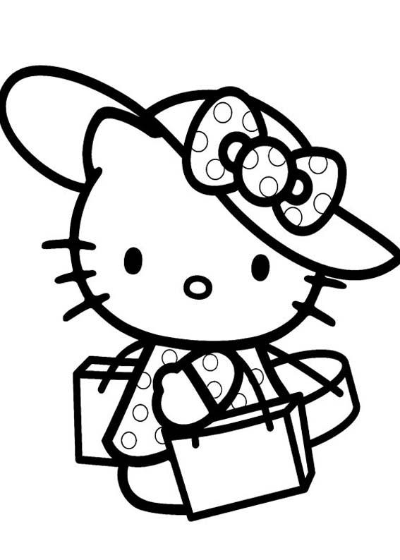 a desenhar Hello Kitty colorir