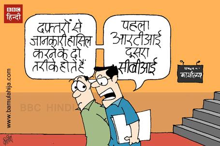 rti cartoon, CBI, cartoons on politics, indian political cartoon, aam aadmi party cartoon, bjp cartoon