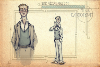 Nick Carraway Illustration The Great Gatsby