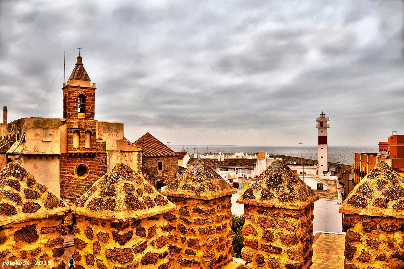 Vista de Rota desde el Castillo de Luna
