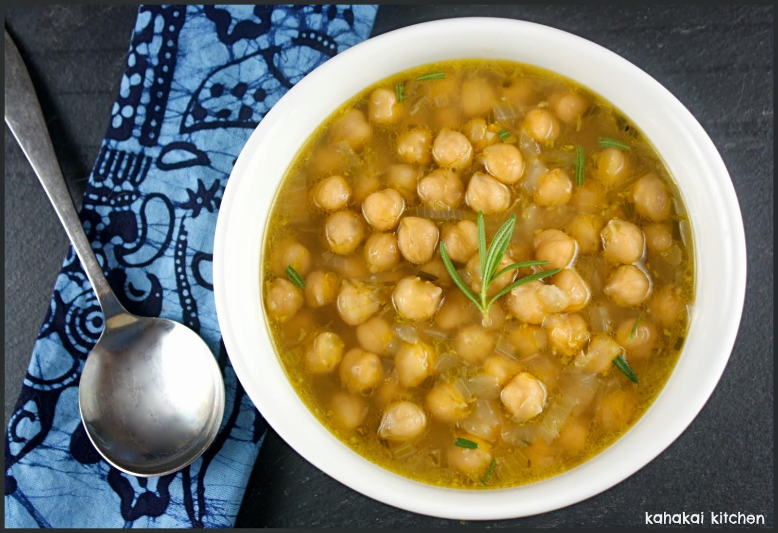 Kahakai Kitchen: Simple Chickpea Soup: Sometimes Simple is ...