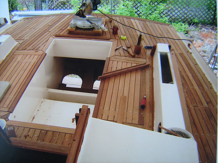 Laying teak in cockpit