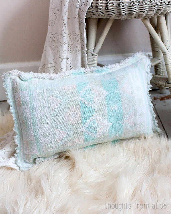 Diy Boho Throw Pillows : Boho Chic Thrift Store Placemat Throw Pillow