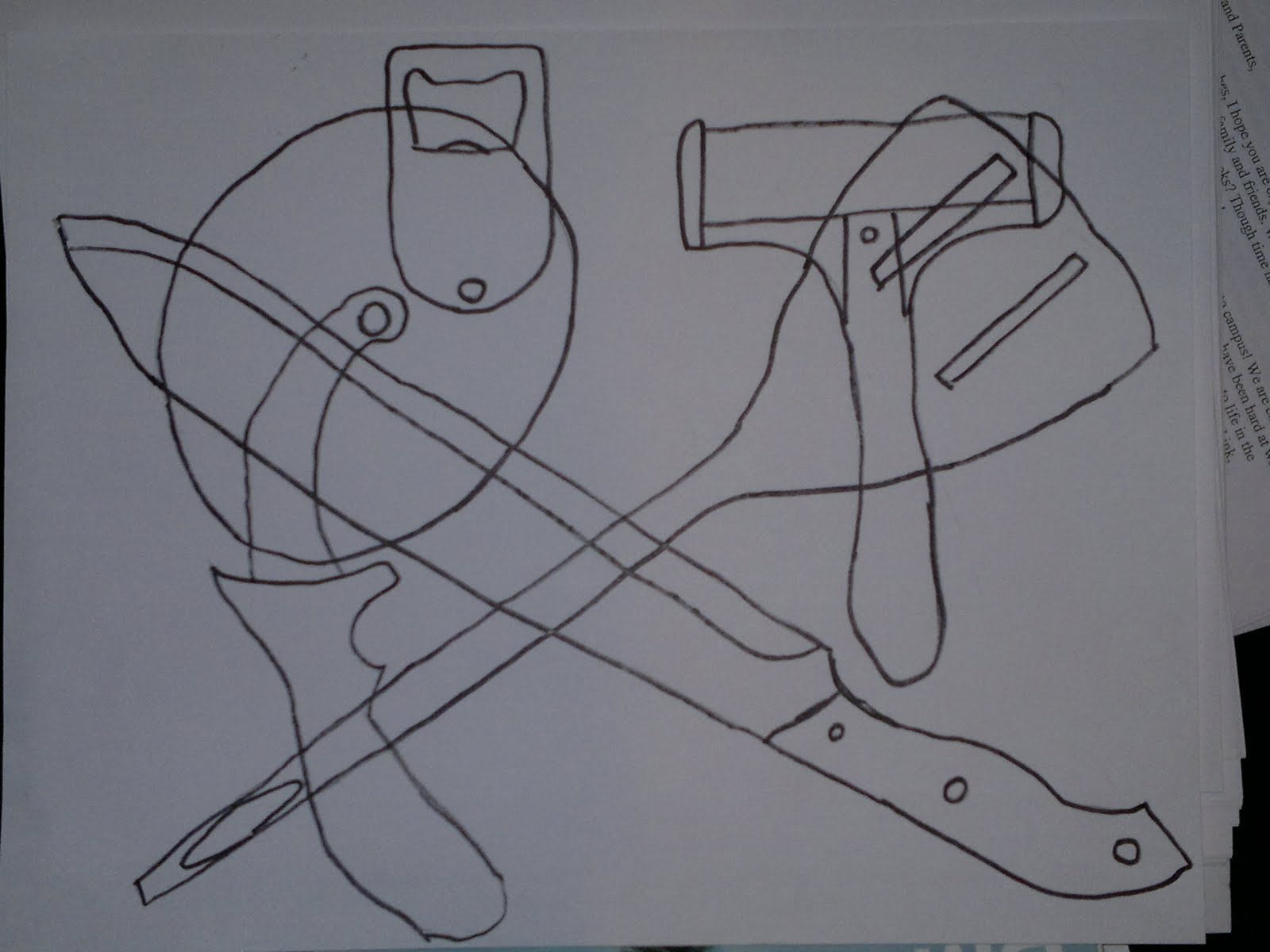Line Drawing Kitchen : Kitchen utensils drawing drawings