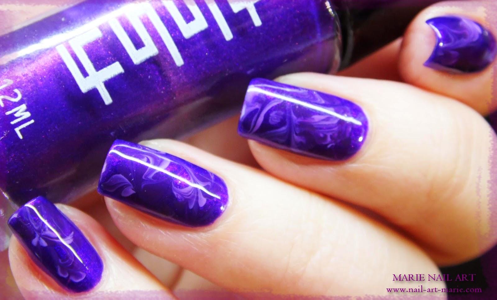 nail art effet améthyste7