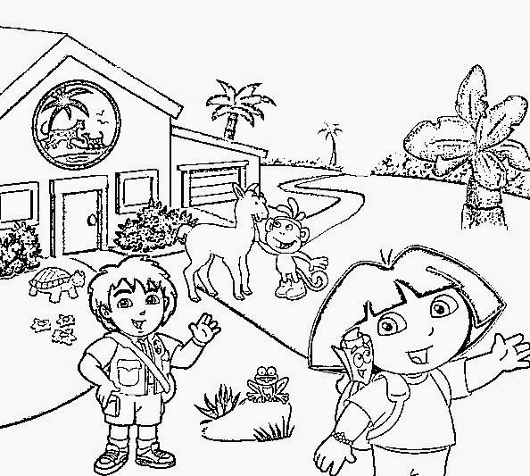 desenhos dora aventureira para colorir desenhos para colorir