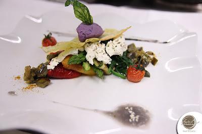 ricetta vegetariana sandwich di verdure e caprino