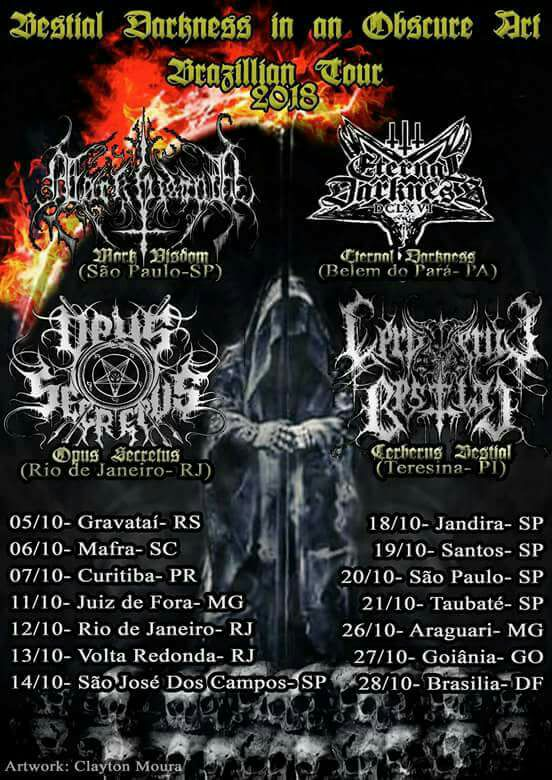 Bestial Darkness In Obscure Tour