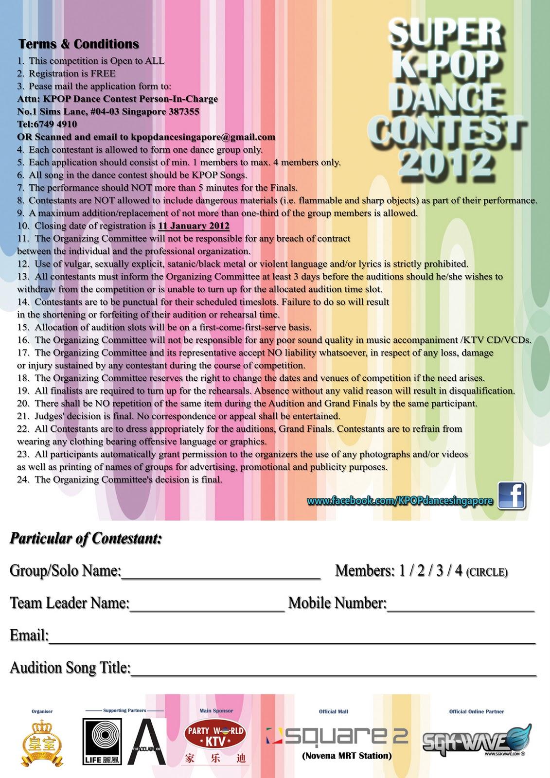 Muzfishy World: Super Kpop Dance Contest on Singapore