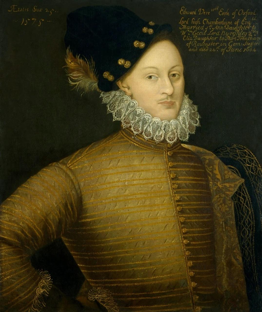 Edward de Vere, 1575 - A lui attribuite le opere pubblicate sotto il nome di William Shakespeare