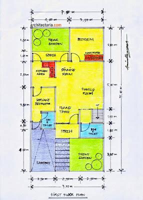 Bagaimana? Semoga Gambar Contoh Denah Rumah Minimalis Modern yang kami ...