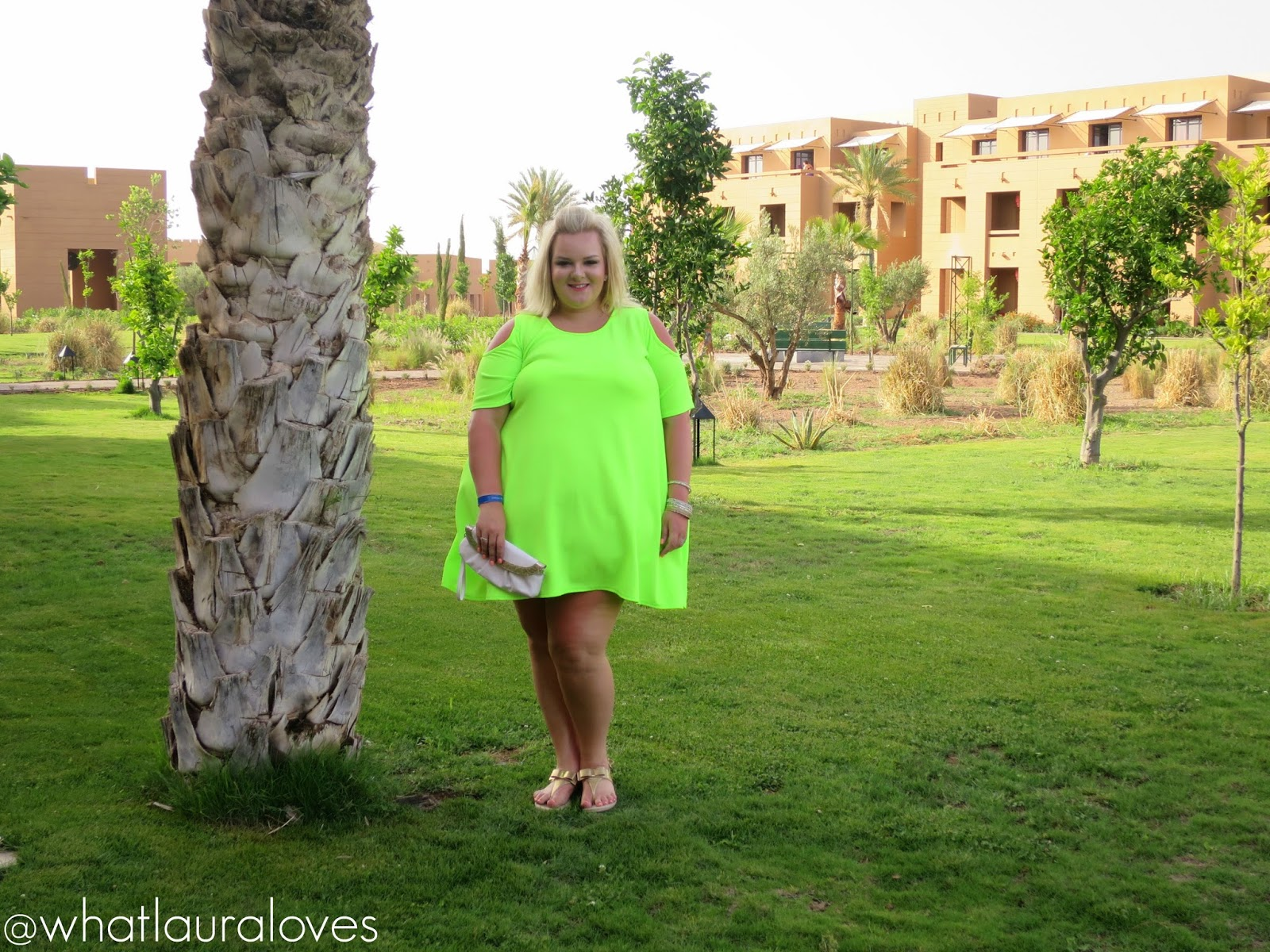 WhatLauraWore: Plus Size Lime Dress - WhatLauraLoves