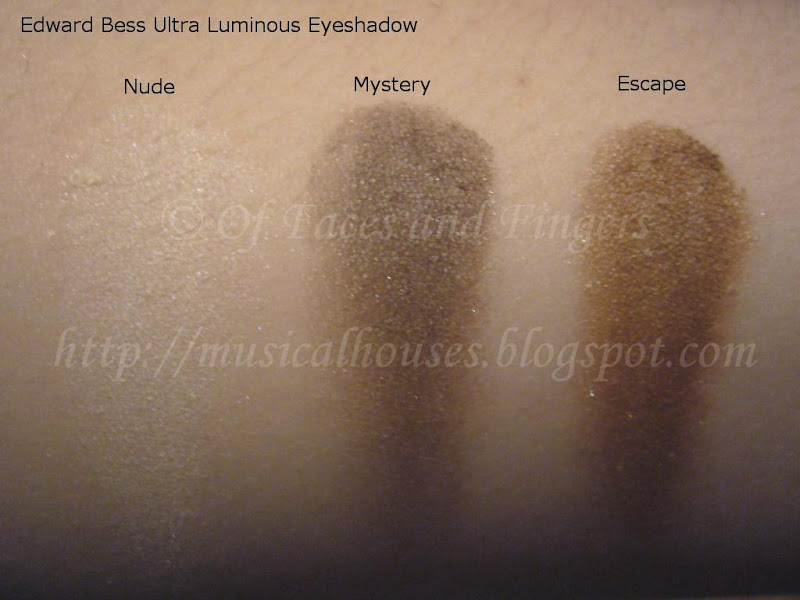 Edward Bess Eyeshadow Swatches