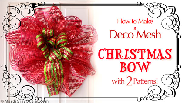 Making a Deco Mesh Christmas