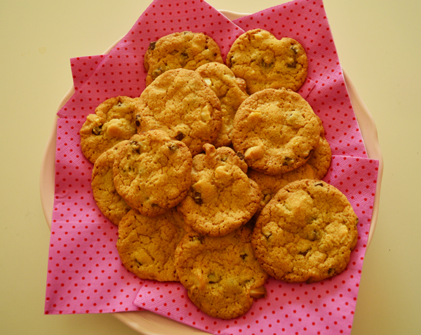 chocolate chip cookies with macadamia