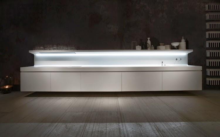 New modern kitchen design ideas in white by Antoni Lupi