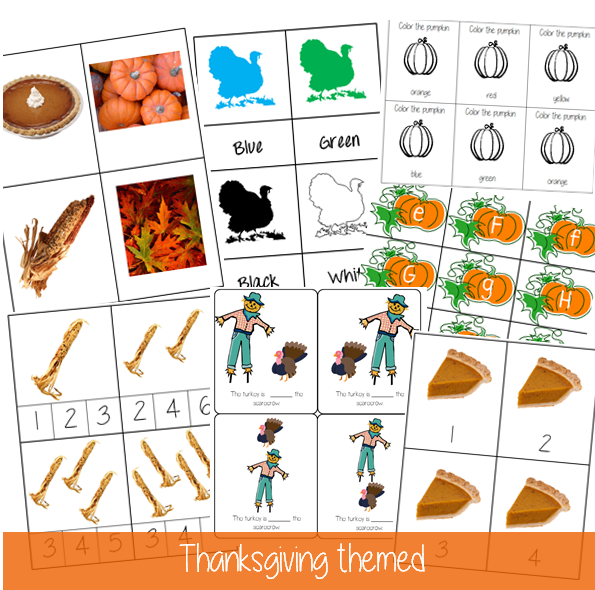 Thanksgiving activities and free printables for toddlers through pre-schoolers by Welcome to Mommyhood #Montessori, #freeprintables, #thanksgivingactivities