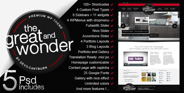 The Great And Wonder Photo Magazine WordPress Theme Free Download by ThemeForest.